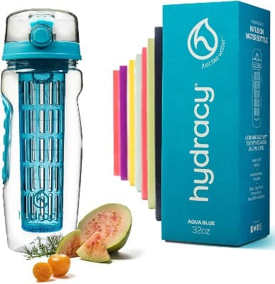 Hydracy Fruit Infuser Water Bottle -32 Oz Sports Bottle -Full Length Infusion Rod