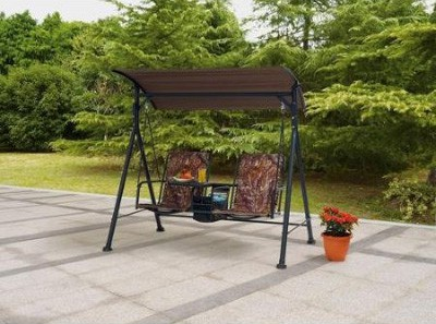 Outdoor Swing Lounge Big and Tall 2-seat Bungee Swing Fade-resistant Print Camo