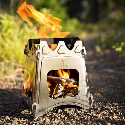 kampMATE WoodFlame Ultra Lightweight Portable Wood Burning Camping Stove