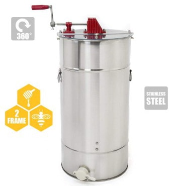 Stainless Steel 2-Frame Honey Extractor With Uncapping Knife, Honeycomb Drum