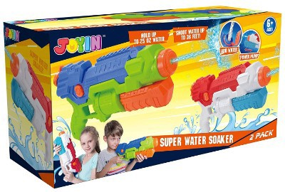 JOYIN 2 Pack Super Water Blaster High Capacity Water Soaker Blaster Squirt Toy