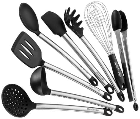 Kitchen Utensil Set - 8 Piece Cooking Utensils for Nonstick Cookware