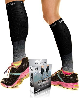 Physix Gear Sports Compression Calf Sleeves for Men & Women
