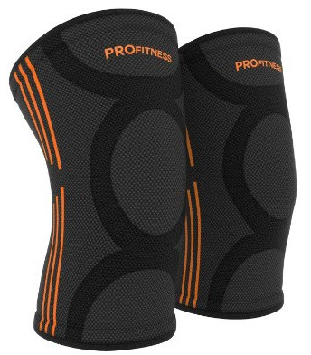 ProFitness Knee Sleeves (One Pair) Knee Support for Joint Pain & Arthritis Pain