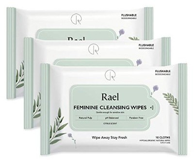 Rael Feminine Wipes with Natural Ingredients