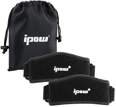 IPOW 2 Pack Thickened Pad &Wide Patella Knee Strap, Pain Relief Patellar Tendon