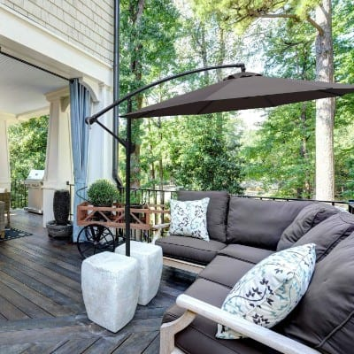 ABCCANOPY 10 FT Hanging Umbrella Cantilever Umbrella Offset Patio Umbrella