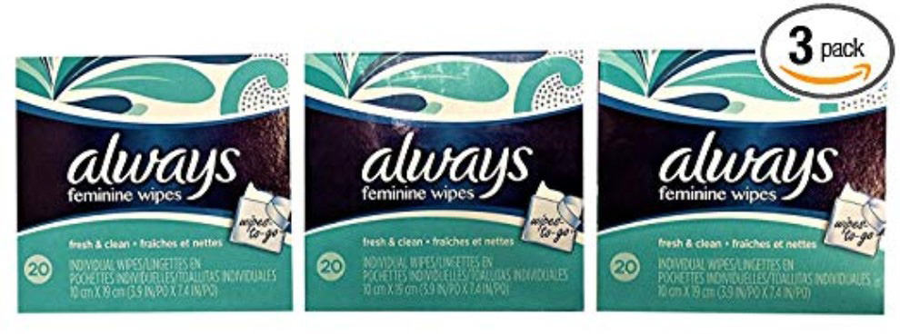 Always - Feminine Wipes-to-Go Multipack