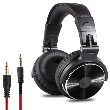 OneOdio Adapter-Free Closed-Back Over-Ear DJ Stereo Monitor Headphones