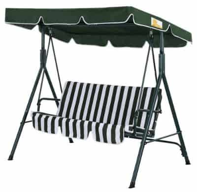 Palm Springs Garden 3 Seater Hammock Cushioned Swing Chair Outdoor Bench