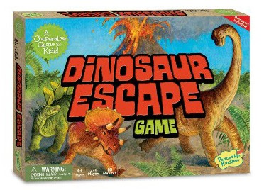 Peaceable Kingdom Dinosaur Escape Award Winning Cooperative Game of Logic