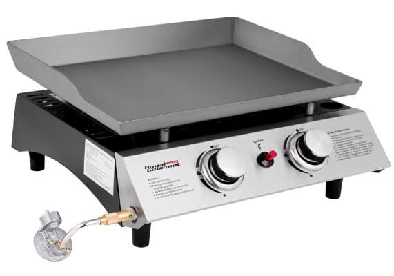 Royal Gourmet Portable Gas Griddle, Table Top Grill, 2 Burner