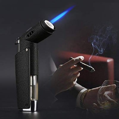 Jet Torch Cigar Lighter with Coated Metal
