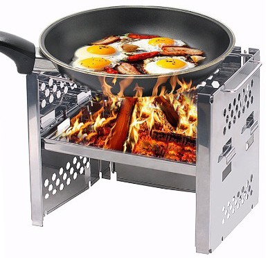 Unigear Wood Burning Camp Stoves Picnic BBQ Cooker:Potable Folding Stainless Steel Backpacking