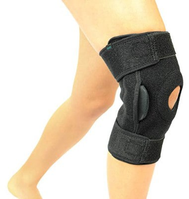 Vive Hinged Knee Brace - Adjustable Open Patella Support for Swollen ACL
