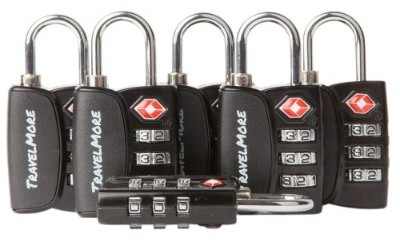 6 Pack Open Alert Indicator TSA Approved 3 Digit Luggage Locks