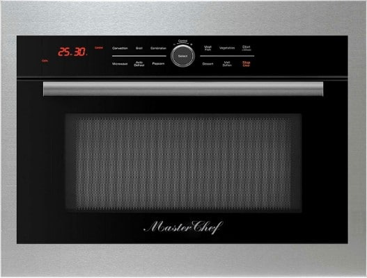 Master Chef, 5 Ovens in 1, 24 Built-In Convection Microwave with Drop Down Door