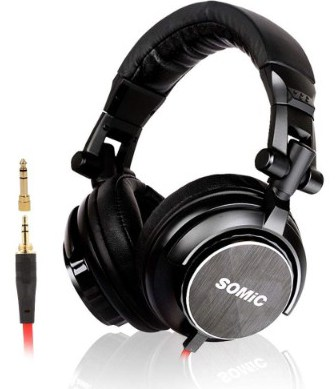 SOMIC MM185 Foldable Over-Ear Music DJ Headphones, Headsets Noise Cancelling