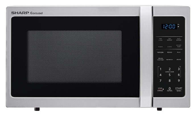 Sharp Microwaves ZSMC0912BS Sharp 900W Countertop Microwave Oven, 0.9 Cubic Foot
