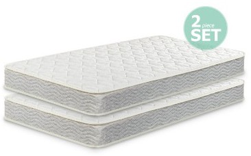 Zinus 6 Inch Spring Twin Mattress 2 Pack