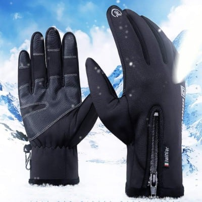 ALAOne Cycling Gloves Touchscreen Waterproof Warm Winter Gloves Outdoor