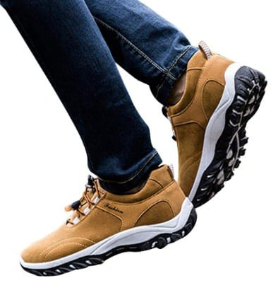 Dreamyth Men Hiking Boots Waterproof Hiking Shoes Flock Outdoor Sneakers