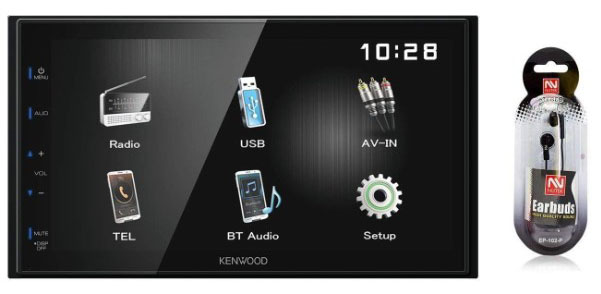 Kenwood DMX110BT 6.8 Double-Din Touchscreen Car Stereo