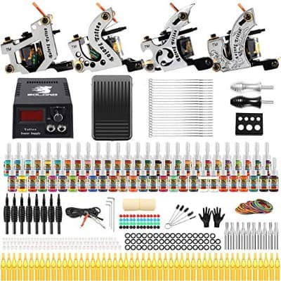 Solong Tattoo Complete Starter Beginner Tattoo Kit 4 Pro