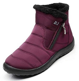 Waterproof Snow Sneakers Boots Fur Lined Ankle High-Top