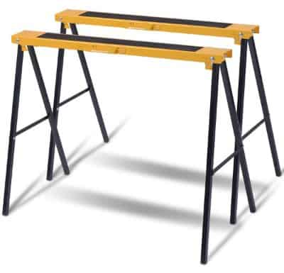 Goplus 2-Pack Sawhorse Pair Heavy Duty Folding Legs Portable Saw Horses