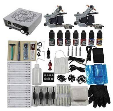 Redscorpion Tattoo Complete Kit Set 2pcs Coil Tattoo Machine Gun for Starter Tattoo Kits Supply