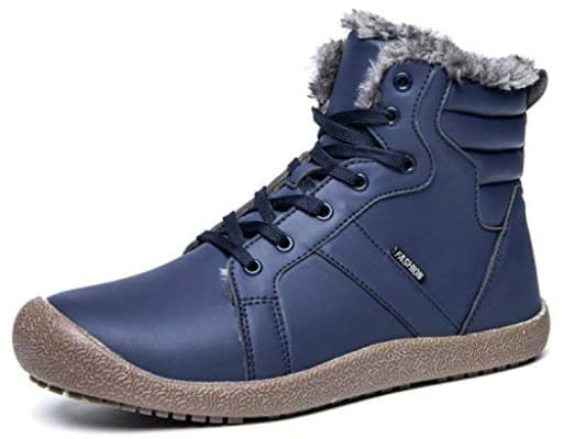 Eagsouni Mens Winter Snow Boots Waterproof Outdoor High Top Sneakers