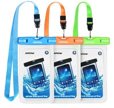 Mpow 024 Waterproof Case, Universal IPX8 Waterproof Phone Pouch Underwater