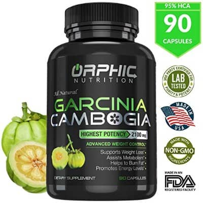100% Pure Garcinia Cambogia Extract 95% HCA, 2100 mg Capsules | Appetite Suppressant