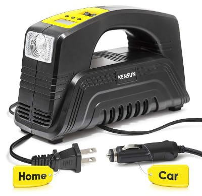 Kensun AC:DC Rapid Performance Portable Air Compressor Tire Inflator