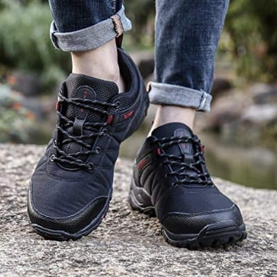 FLARUT Hiking Shoes Men Outdoor Sports Backpacking Boots Trekking Climbing Running Sneakers