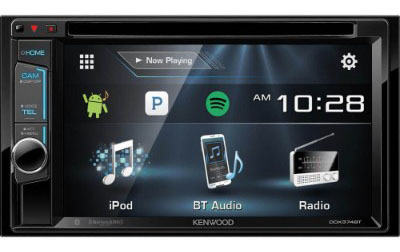 Kenwood DDX374BT 2-DIN Bluetooth in-Dash CD:DVD:DM Receiver with 6.2 Touchscreen