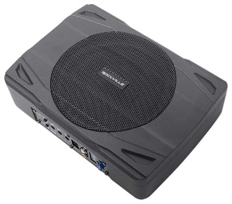 Rockville SS8P 400 Watt Slim Under-Seat Powered Car:Truck Subwoofer