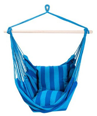 SUNMERIT Hanging Rope Hammock Chair Swing Seat