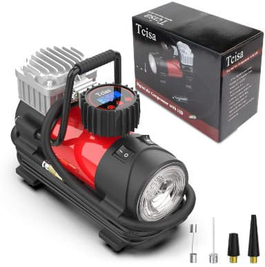 Tcisa 12V DC Portable Air Compressor Pump