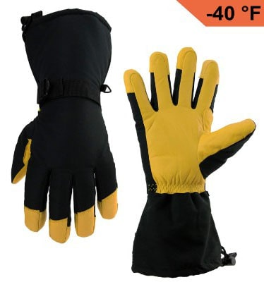 OZERO Winter Ski Gloves Cold Proof Work Glove with Thermal 3M Thinsulate