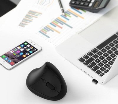 Vertical Mouse, 7Lucky Small Rechargeable Ergonomic Wireless Mouse