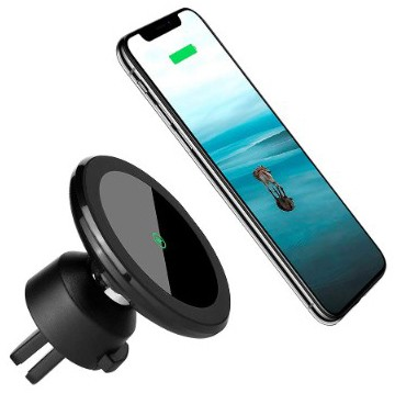 Wireless Car Charger Mount Magnetic Phone Holder