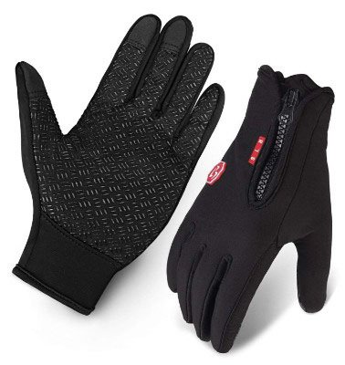 Cycling Gloves, Waterproof Touchscreen in Winter Outdoor Gloves Adjustable Size