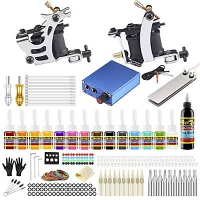 Solong Complete Starter Beginner Tattoo Kit 2 Pro