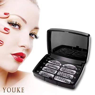 Long Dual Magnetic False Eyelashes, 0.2mm Ultra Thin 3D Reusable Fake Lashes