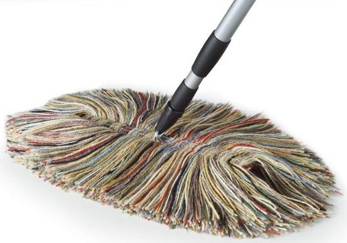 Wool Dust Mop - Big Wooly with Metal Telescoping Handle