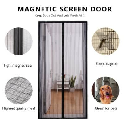 Homearda Magnetic Screen Door - Full Frame