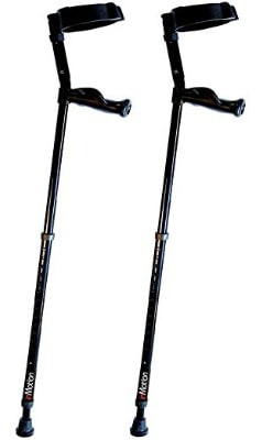 In-Motion Forearm Crutches with Spring Assist