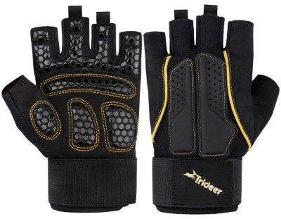 Trideer Double Protection Weight Lifting Gloves, Padded Gym Gloves